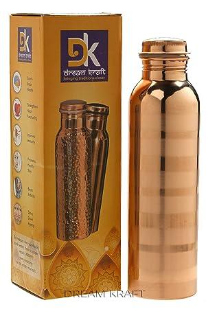dreamkraft cobre botella de agua para Ayurvedic 1L oro. Pasa ...