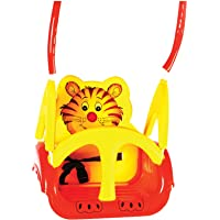 Panda Baby Musical Swing With Multiple Age Settings 4 Stages -Red