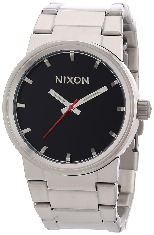 Nixon A160000-00 - Reloj analógico de cuarzo para hombre con correa de acero inoxidable, color plateado: Amazon.es: Relojes