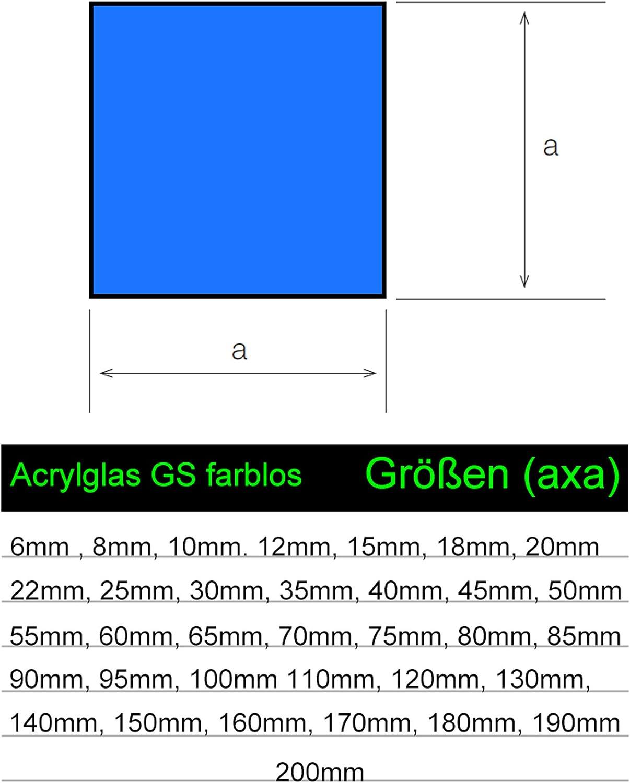 Acryl Gr/ünke/® 8 mm Acrylglas XT farblos klar Zuschnitt Platte 1000mm x 250mm