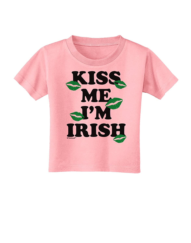 TooLoud Kiss Me Im Irish Green Kisses Toddler T-Shirt