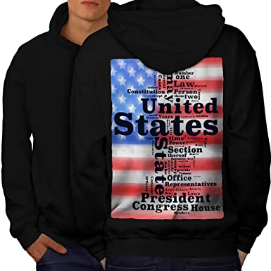 9e00cc54d8f5 Amazon.com  wellcoda USA President Law Mens Hoodie