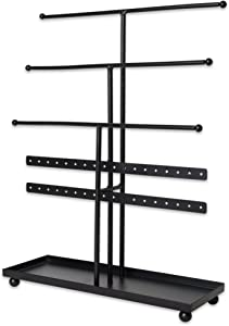 Home Traditions Z01648 Tree Tower, 3 Tier Metal with Modern Look and Jewelry Organization, Bronze
