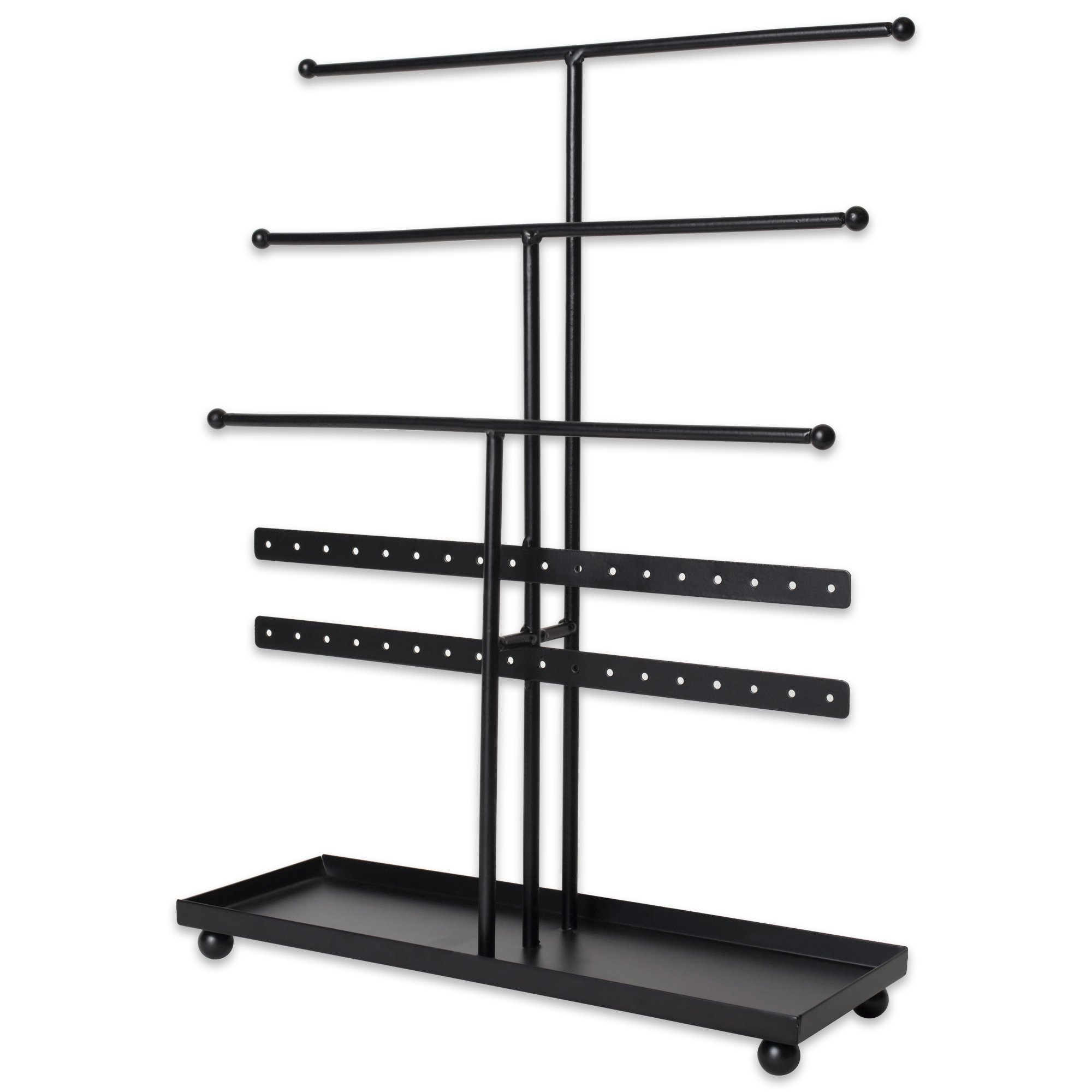 DII Z01648 Tree Tower, 3 Tier Metal with Modern Look and Jewelry Organization, Bronze