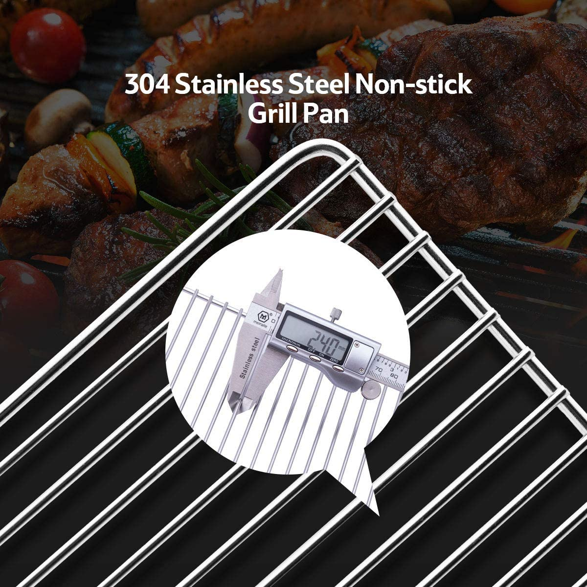 Naturehike Camp Grill Folding Campfire Grill Portable Grill Lightweight Steel Mesh Barbecue Grill Camping Grill for Outdoor Camping Cooking Hiking Tailgating Backpacking Party