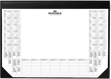 Durable 729101 Schreibunterlage mit Kalenderblock 25 Blatt sc... 590 x 420 mm