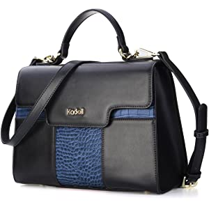 94879d9b6681 Kadell Women Vintage Leather Handbags Tote Shoulder Bag Satchel Purse for  Ladies