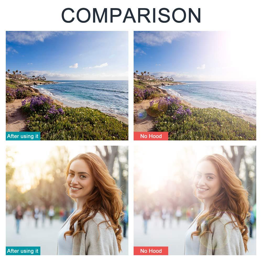 Fotover ET-65 III Lens Hood Replacement Sun Shade for Canon EF 85mm f//1.8 USM/&EF 135mm f//2.8 SOFTFOCUS/&EF 100-300mm f//4.5-5.6 USM lenses