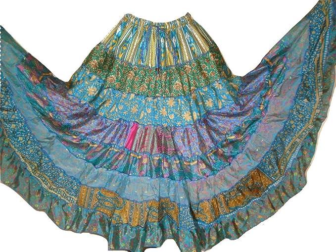 Dancers World Ltd (UK Seller) Falda de 9 Yardas con Tribales Gypsy ...