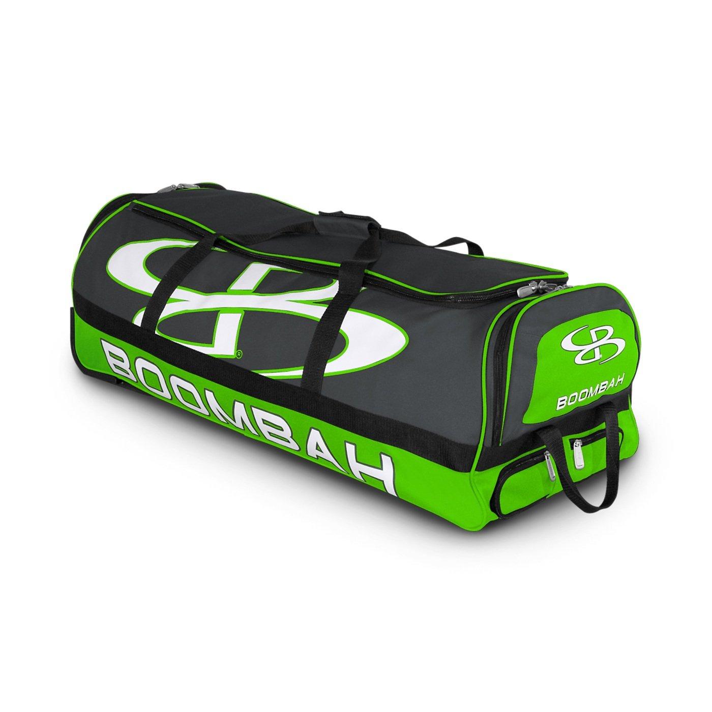 (ブームバー) Boombah Bruteシリーズ キャスター付きバットケース 野球ソフトボール用 35×15×12–1/2インチ 49色展開 4本のバットと用具を収納可能 B01N6AIXGK Dark Charcoal/Lime Green Dark Charcoal/Lime Green