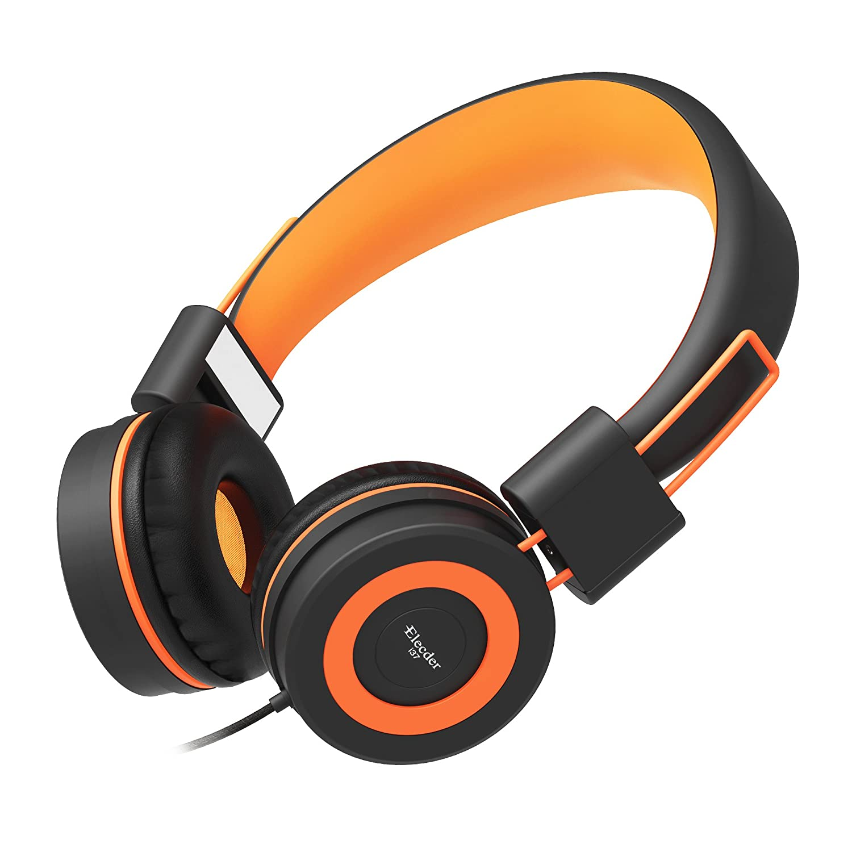 Elecder i37 Kids Headphones for Children Girls Boys Teens Foldable Adjustable On Ear Headphones with 3.5mm Jack for iPad Cellphones Computer MP3//4 Kindle Airplane School