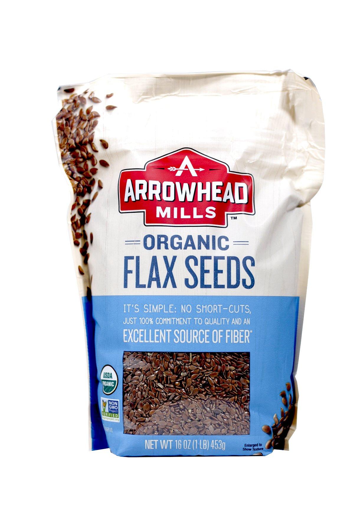 Arrowhead Mills, Organic Flax Seeds, 16 oz (453 g) - 2pcs