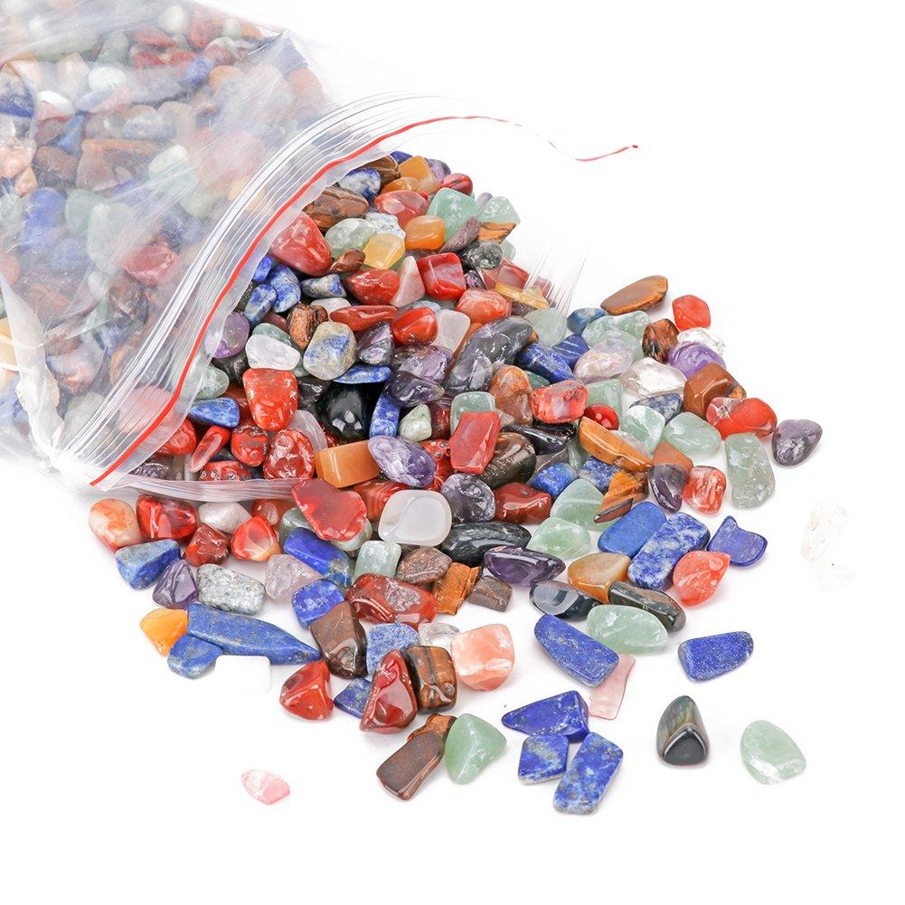 yarssir 2ポンド自然カラフルなCrushed stone- Miniサイズ1 / 4- 1 / 3-natural Raw Stone and Fountainストーン切断用、宝石、タンブル、研磨、レイキCrystal Healing B0745B11PX ミックス