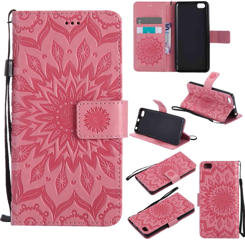 Guran® Funda de Cuero para Xiaomi Mi5 Smartphone Función de Soporte con Ranura para Tarjetas Flip Case Cover-Rosa: Amazon.es: Electrónica