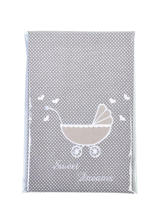 Sei Design Literie pour Bébé: Housse de Couette 60x80 + taie 30x40, Adaptée à la literie pour poussettes 4260392-041623-sd