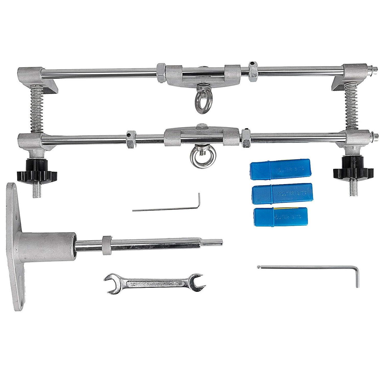 Summile 16 Mortice Door Fitting Kit 3 Cutters Jig Lock Mortiser 2 ...