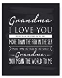 """Amazon Price History for:Grandma Poem Chalkboard Print by Ocean Drop Photography (8x10"""") - Thoughtful Gift for Grandma - Beautiful Black and White Typography Artwork - Ready to Hang, Hanger Included"""