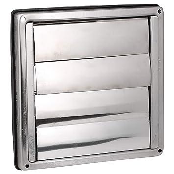 First4spares – Acero inoxidable, cuadrado extractores externos rejilla de salida de pared con tapas de gravedad