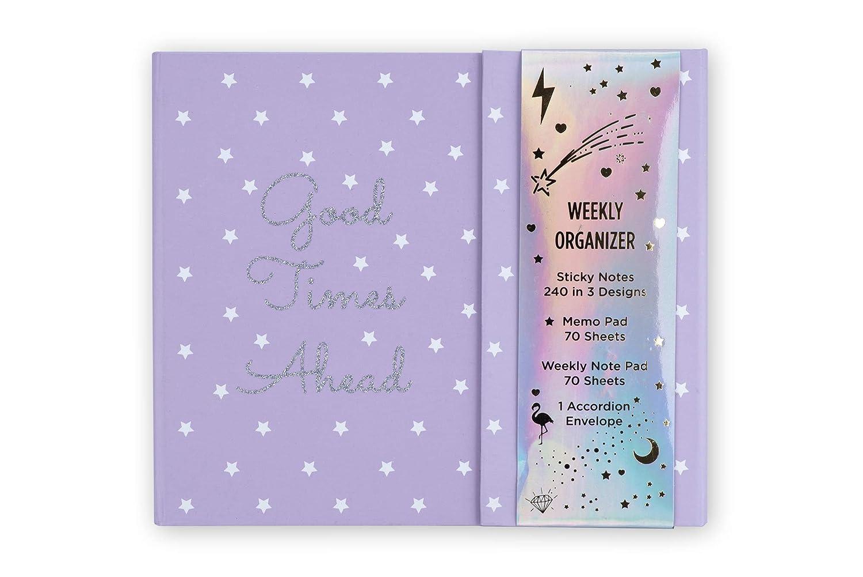 Tri-Coastal Design - Escritorio semanal Planner Organizer, con cierre magnético, tapa dura triple, notas adhesivas, recordatorios y cuadernos ...