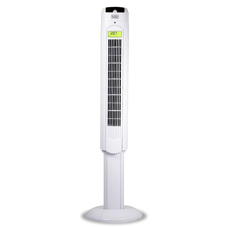 "BLACK + DECKER BFTR48B 48"" Tower Fan with Remote, Black White"