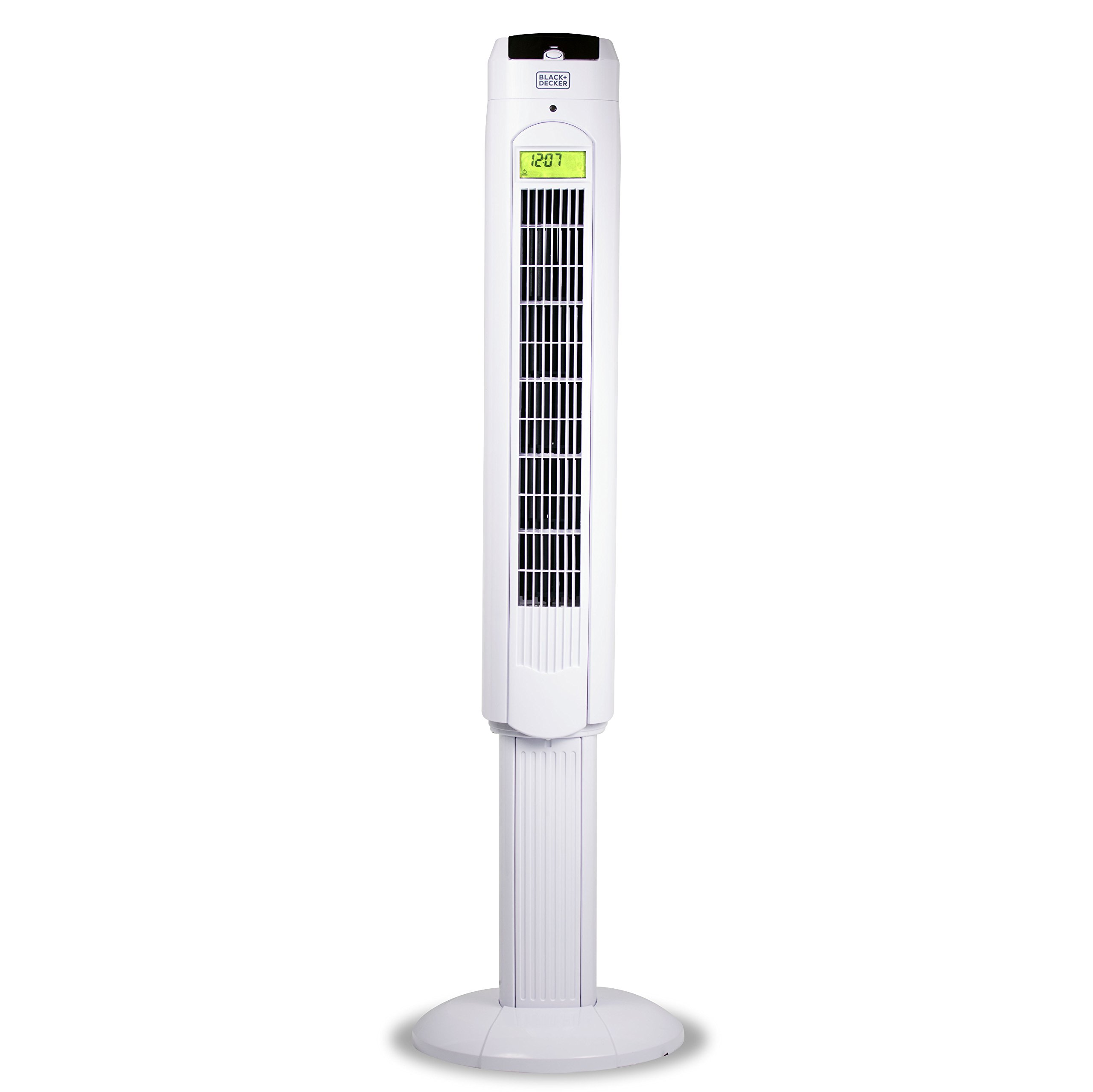 Quiet Digital Tower Fan With Remote Control 48w 48 In Top