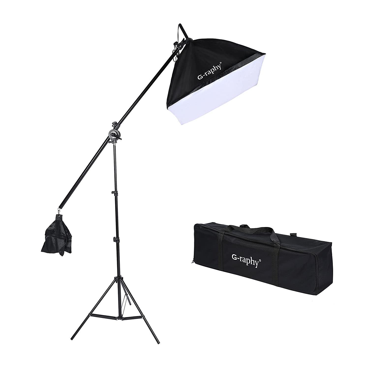 G-raphy Photography Video Studio Continuous Softbox Lighting Light Kit with Photo CFL 85W Bulb
