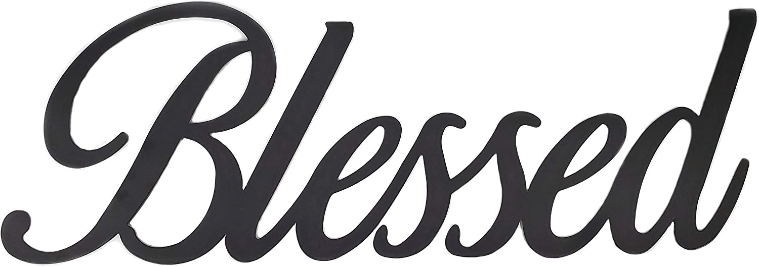 Xanter Blessed Black Metal Wall Decor (23.5 x 7.75 x 0.12 inches)