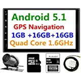 Panlelo® PA09YZ16, 17,8cm 2DIN unità Android 5.1navigazione GPS Car stereo audio radio 1080p video Player ARMv7Quad Core incorporato Wi-Fi Bluetooth AM/FM/RDS Steering Wheel Control [Classe di efficienza energetica A]