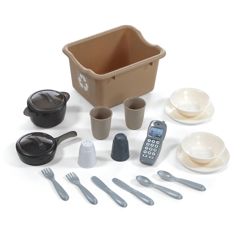 Amazon.com: Step2 LifeStyle Custom Kitchen II, Brown/Tan/Green: Toys ...