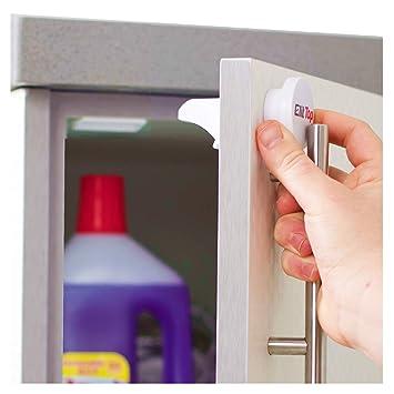 8 Locks 2 Keys Magnetic Cabinet Drawer Cupboard Locks for Baby Kids Safety Tool
