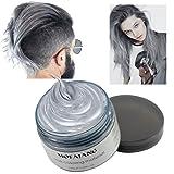 Ash Grey Instant Hair Color Wax, Qiyuxow