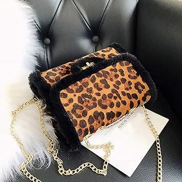 f57a5d634abc Amazon.com : Moonite Women Leopard Crossbody Fashion Gold Chain ...