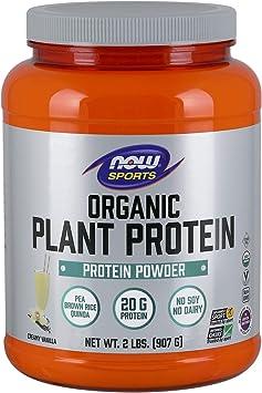 NOW Foods La Proteina Vegetal Ecológica, Vainilla 910 g
