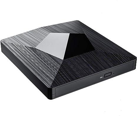Supports BDXL//BD//DVD//CD//UHD//M-Disc Bonus CyberLink Media Suite 10 Windows Software Lite-On 24x Ultra-Slim Portable USB 3.0 Blu-Ray UHD//DVD Writer Optical Drive EB1