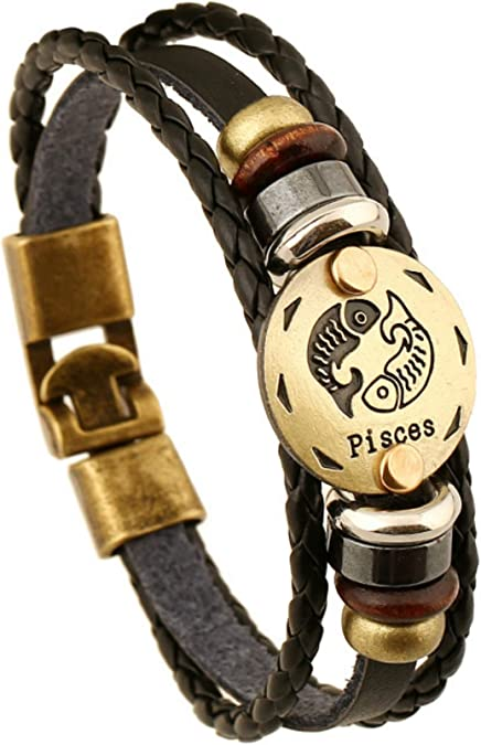 FLDC Blue Evil Eye Multi-Layer Handmade Braided Charm Wrap Cuff Bangle Bracelet Wrist Jewelry for Women Men
