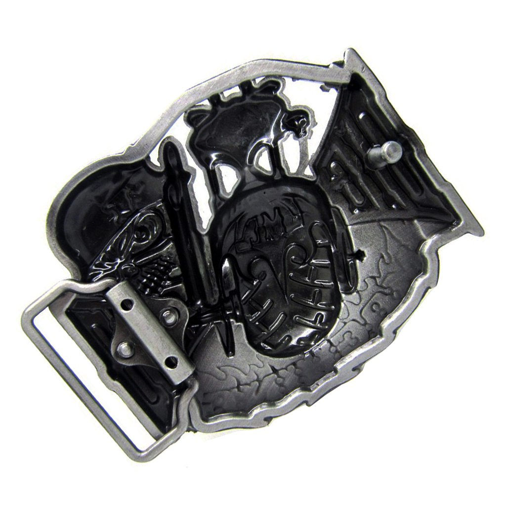 Baoblaze Fashion Western Cowboy Ghost Skull Head Belt Buckle Mechanical Biker Belt Buckle
