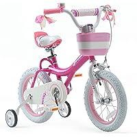 RoyalBaby Girls Kids Bike Jenny Bunny 12 14 16 18 20 Inch Bicycle 3-12 Years Old Basket Training Wheels Kickstand White…