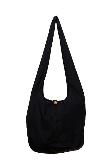 Amazon.com  Avarada Solid Plain Color Thai Cotton Hippie Hobo Sling  Crossbody Bag Messenger Purse Bohemian  Shoes c3ca4263e208