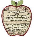 Teacher Apple Plaque - A Teacher's Prayer - End of School Year Thank You Gift