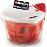 MUELLER Large 5L Salad Spinner Vegetable Washer with Bowl, Anti-Wobble Tech, Lockable Colander Basket and Smart Lock Lid…