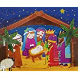 "Anker Childrens Religious 3D Christmas Advent Calendar - 25 Windows 11.25"" x 14"""