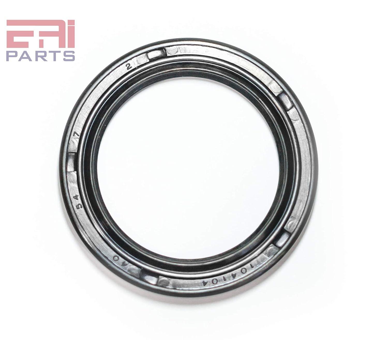 2 PCS Metal Case w//Nitrile Rubber Coating EAI Oil Seal 40mm X 65mm X 8mm TC Double Lip w//Spring