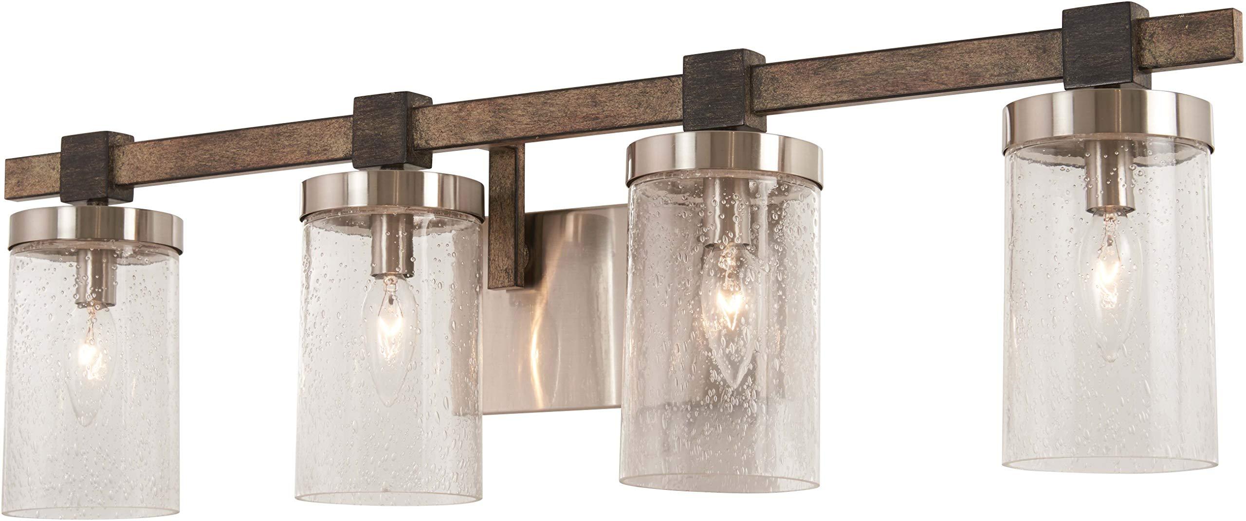 Minka Lavery Wall Light Fixtures 4634-106 Bridlewood Bath Vanity Lighting, 4-Light 240 Watts, Stone Grey