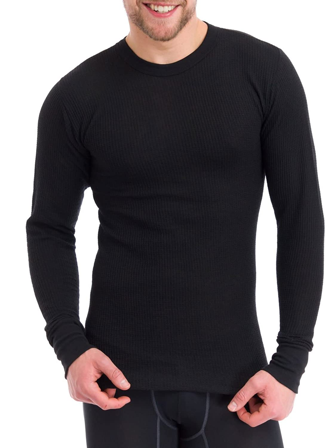 Essential Apparel Men's Old School Waffle Knit Thermal Top