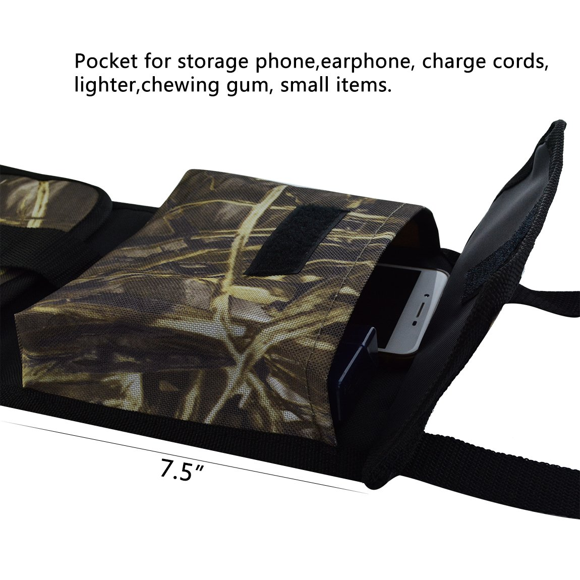 SUMERSHA 2 Pack Car Seat Back Gun Sling Organizer With Pockets Or Rifle Hunting Camo Outdoor Storage