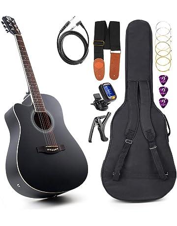 Vangoa VG-41ECL - Guitarra eléctrica acústica con bolsa de guitarra, correa, afinador