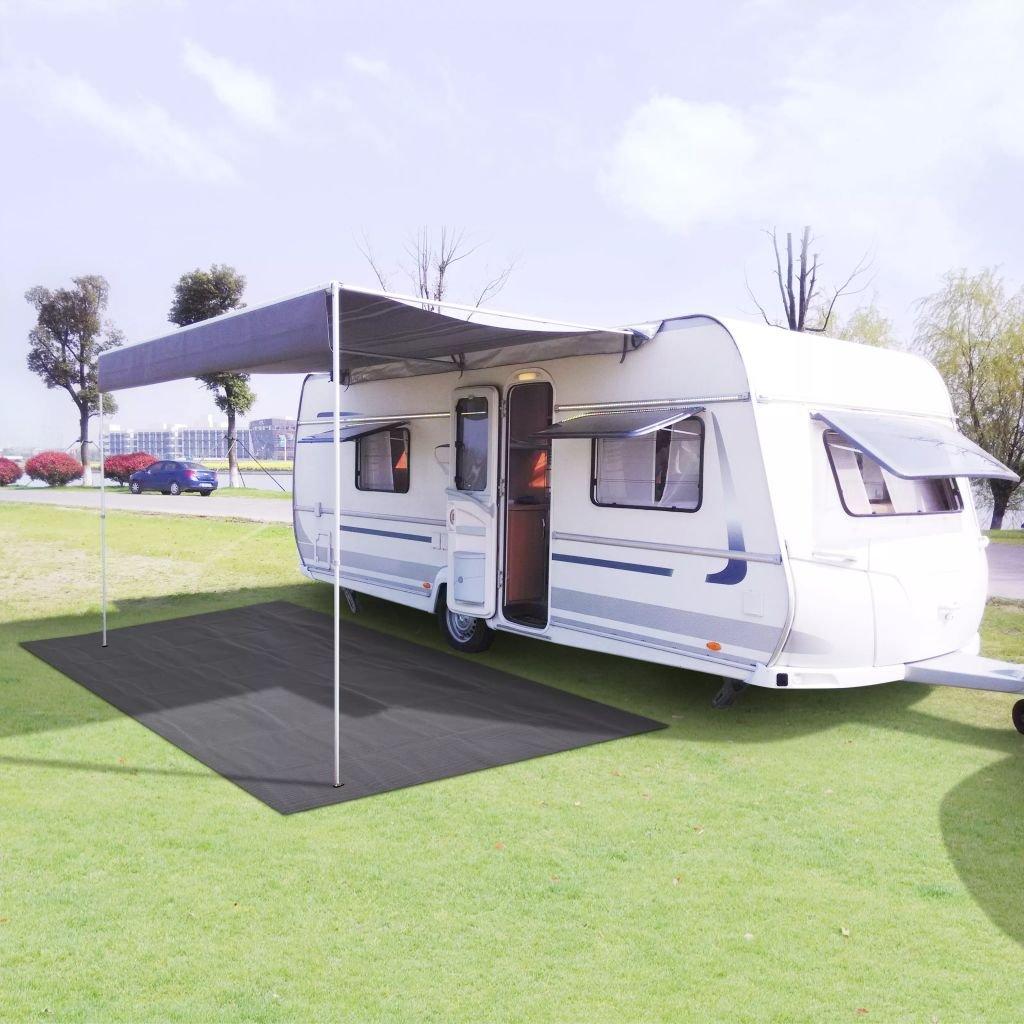 GoodWork4UEu Tapis de Tente 250 x 600 cm Anthracite équipeHommests Sportifs Loisirs de Plein air Camping et randonnée Accessoires de Tente