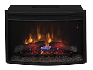 "Amazon.com: ClassicFlame 25EF031GRP 25"" Curved Electric Fireplace Insert with Safer Plug: Home & Kitchen"