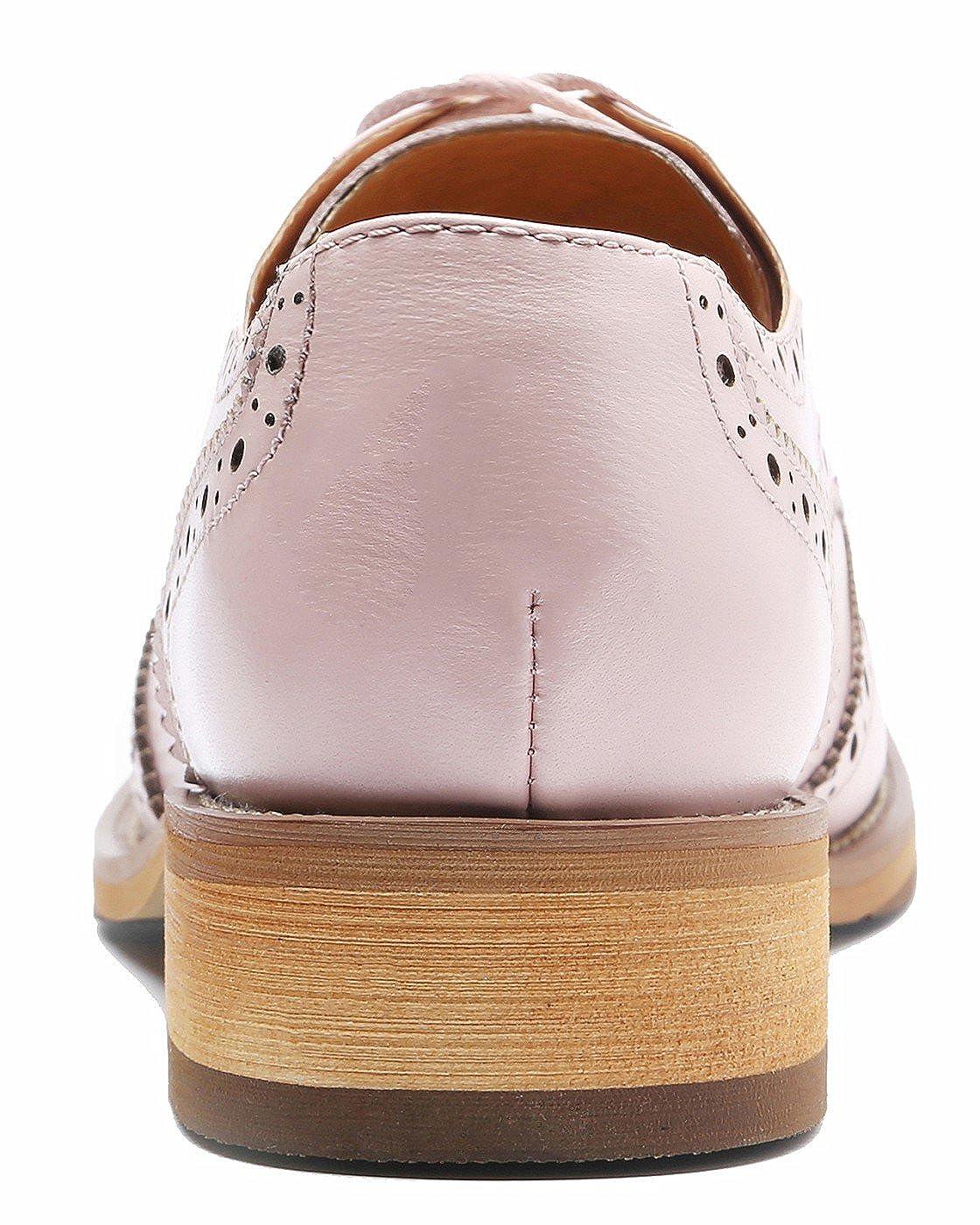 SimpleC Damen Vintage Brogue Brogue Brogue Bequem Business&Schnürhalbschuhe Leder Klassiker Perforierte Wingtip Oxfords fa9d85
