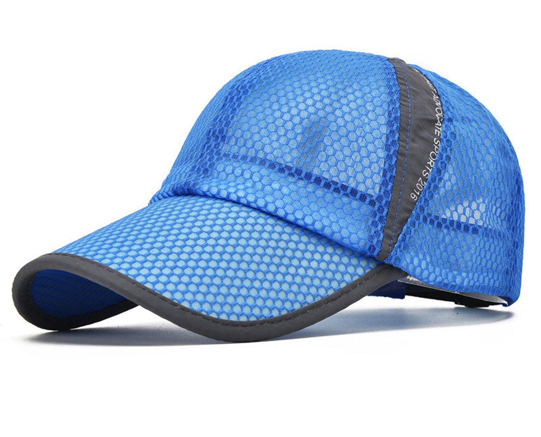 01dbea37c1e8e ELLEWIN Unisex Breathable Quick Dry Mesh Baseball Cap Sun Hat product image